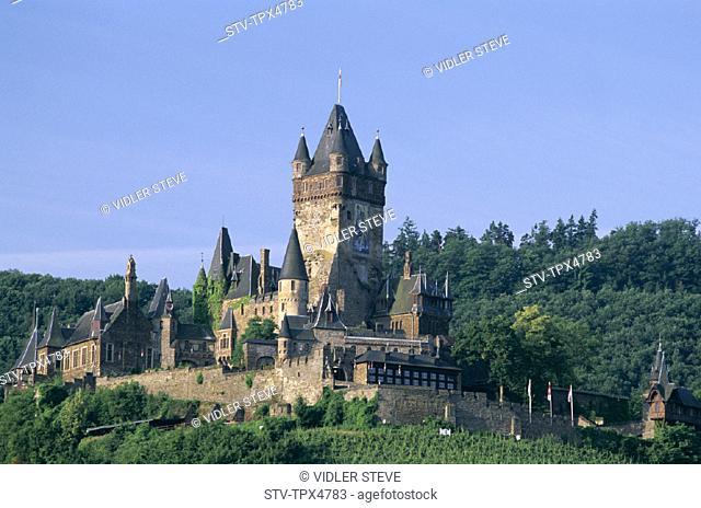 Castle, Cochem, Germany, Europe, Holiday, Landmark, Mosel, Rhineland, Tourism, Travel, Vacation, Valley
