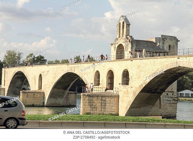 The bridge of Avignon, Le Pont St. Benezet, Avignon, France Bridge