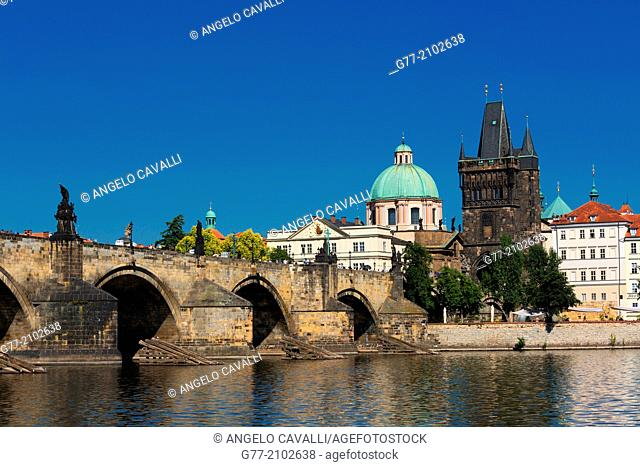 Czech Republic. Prague. The Old Town. Charles Bridge
