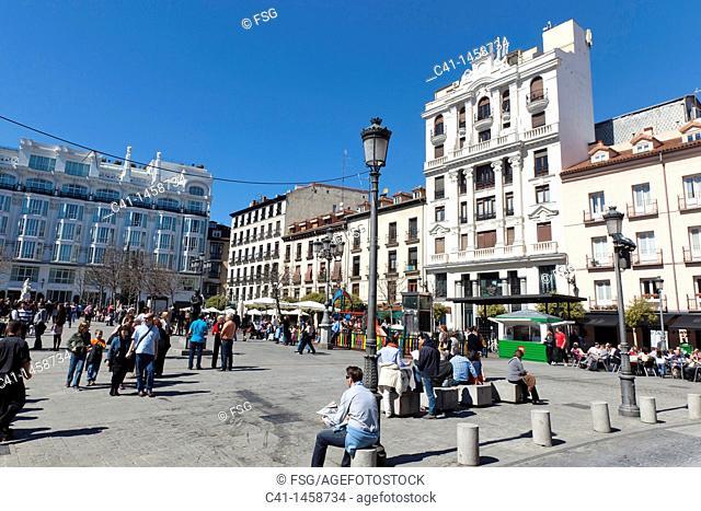 Santa Ana square, Madrid, Spain