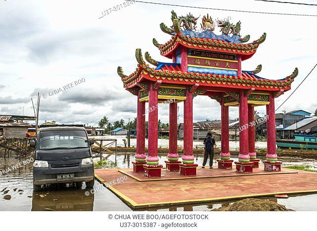 Chinese temple in Sei Kakap bazaar, Pontianak, West Kalimantan, Indonesia