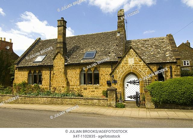 A restored Almshouse in Adderbury, Oxfordshire, now a residential cottage