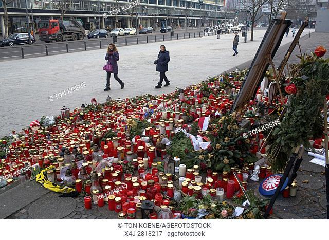 terror attack at Kaiser Wilhelm Memorial Church at Breitscheidplatz in Berlin on 19 Dec 2016