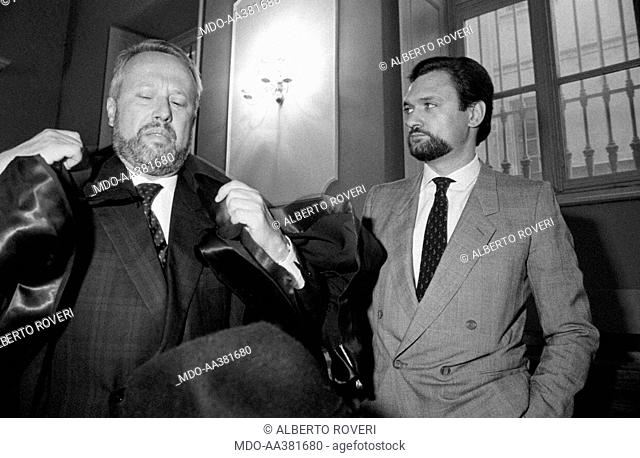 Adriano Zampini at the bribery trial in Turin. The Italian surveyor Adriano Zampini is accused of corruption at the trial for the scandal of the bribes