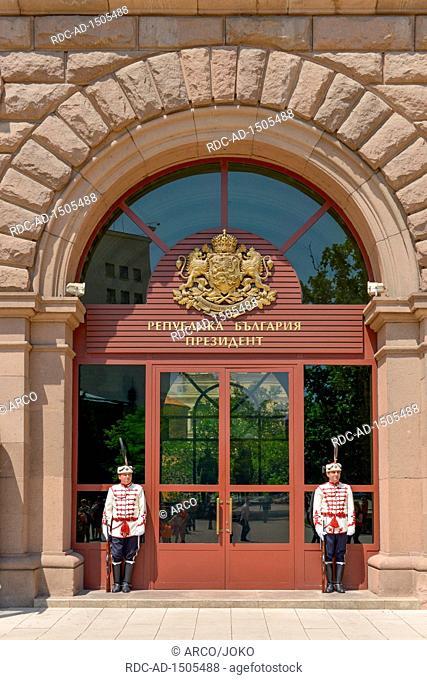 Ehrenwache, Praesidentenpalast, Sofia, Bulgarien