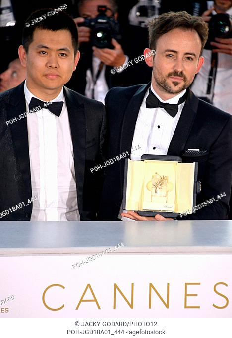 Palme d'Or - Short films Wei Shujun and Charles Williams for the film 'All these Creatures' Prize list of the 71st Cannes Film Festival May 19