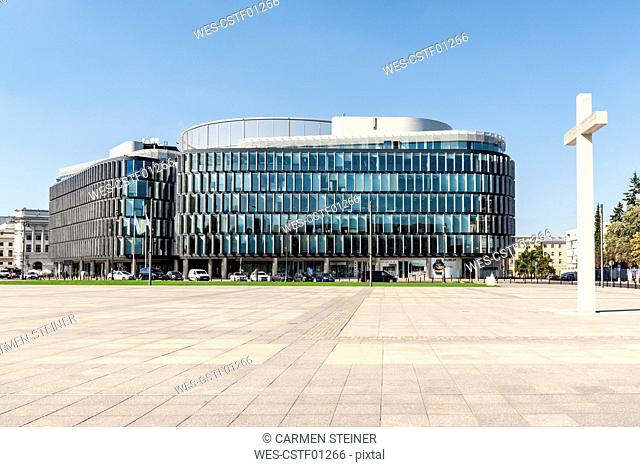 Poland, Warsaw, Metropolitan building on Pilsudski Square
