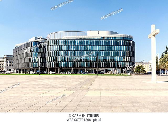 Poland, Warsaw, Metropolitan building on Pilsudski Square