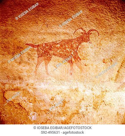 Neolithic paintings. Tassili. Argelia
