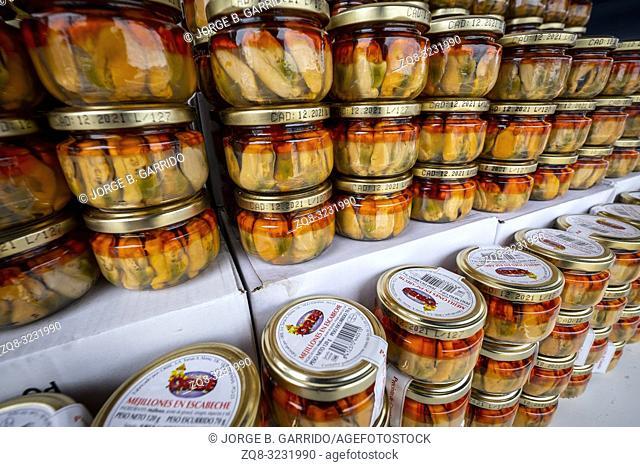 Candas street market, Asturias, Spain