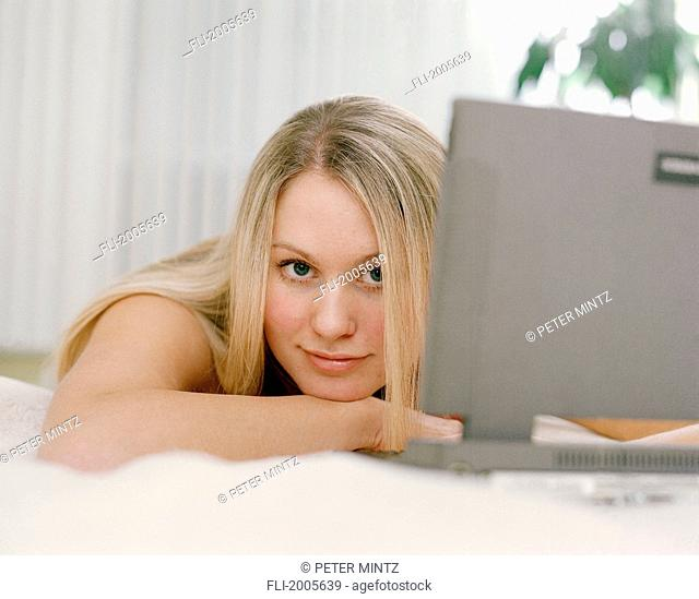 Fv5432, Peter Mintz; Young Woman With Laptop