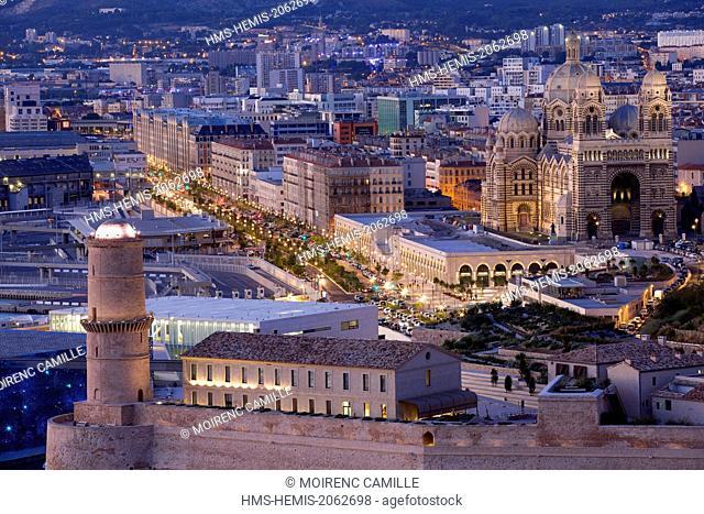 France, Bouches du Rhone, Marseille, Euromediterranean area, Fort Saint Jean Monument History class, Boulevard de Dunkerque