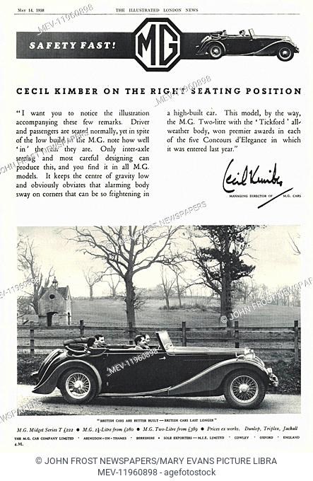 Advertisement morris car Stock Photos and Images   age fotostock