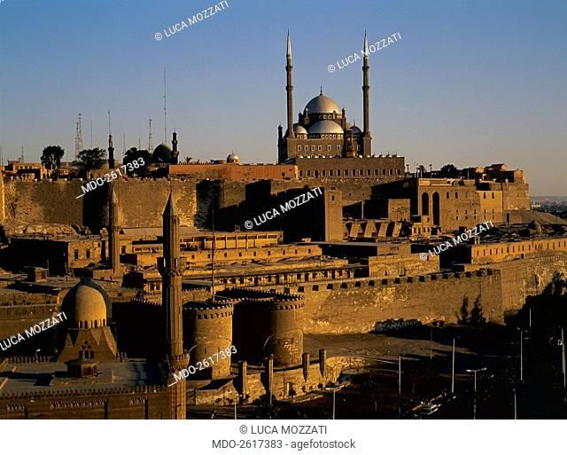 The Saladin Citadel, by Ayyubid craftsmen, 10th-11th Century, sandstone. Egypt, Cairo, Citadel. Whole artwork view. The Cairo Citadel