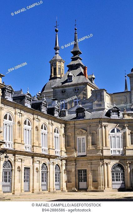 The Royal Palace of La Granja de San Ildefonso. Segovia province, Castilla León. Spain