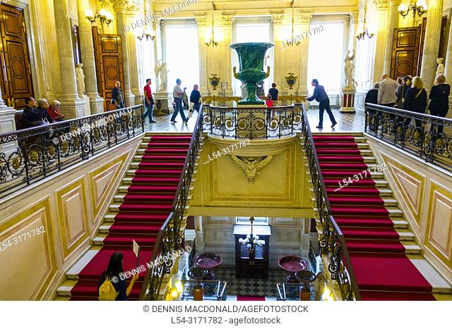 """State Hermitage Museum St Saint Petersburg, Russian Sankt Peterburg, formerly (1914â. """"24) Petrograd and (1924â. """"91) Leningrad, city and port"""