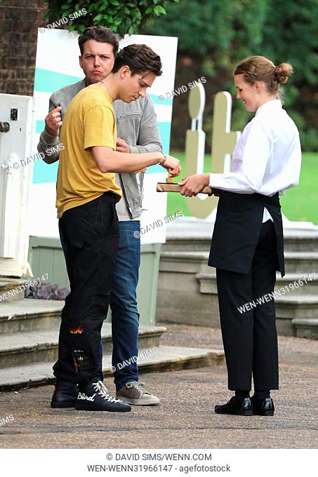 ITV Summer Reception at The Orangery at Kensington Palace - Arrivals Featuring: Joey Essex, James Bennewith, Diags Where: London