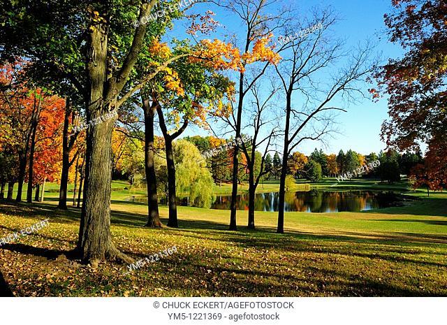 Northern Illinois autumn landscape