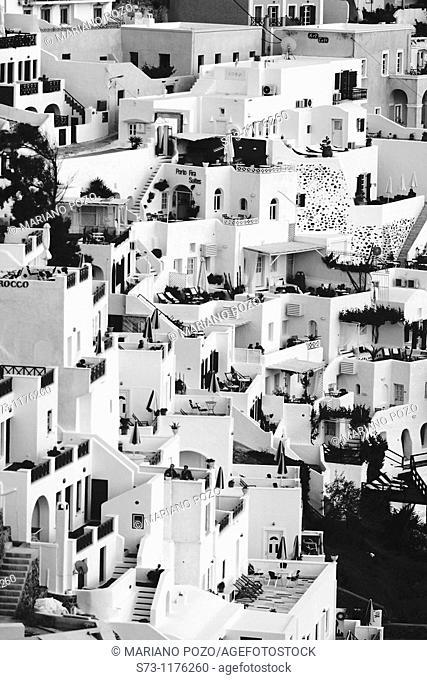 View over Thira, Greece, Santorin, Thira