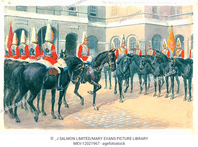 Changing of the Guard at Horse Guards, Whitehall, London Pageantry by Charles Howard