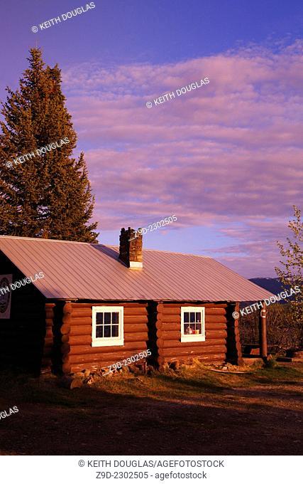 Old Forest Service cabin at McBride Lake, near Morice Lake , BC