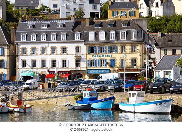 Harbour view. Audierne. Finistère. Bretaña. Bretagne. Brittany. France
