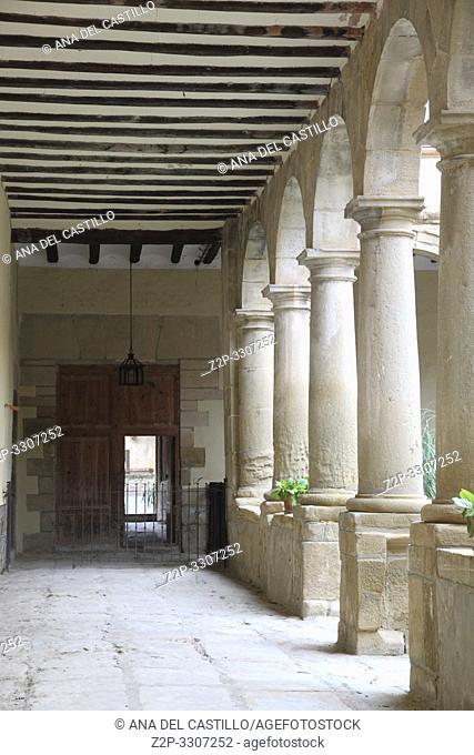 Cloister Carmen convent,Rubielos de Mora village,Teruel,Spain