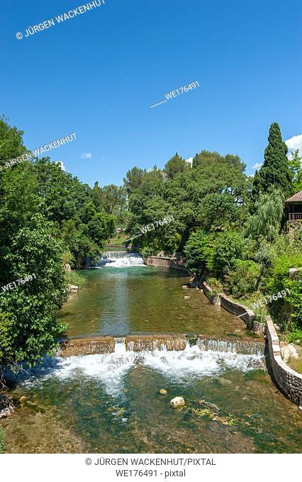 The river La Nartuby, Le Muy, Var, Provence-Alpes-Cote d`Azur, France, Europe