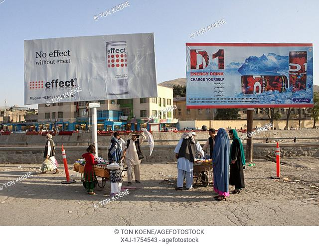 advertisement of energy drink in kabul, Afghanistan