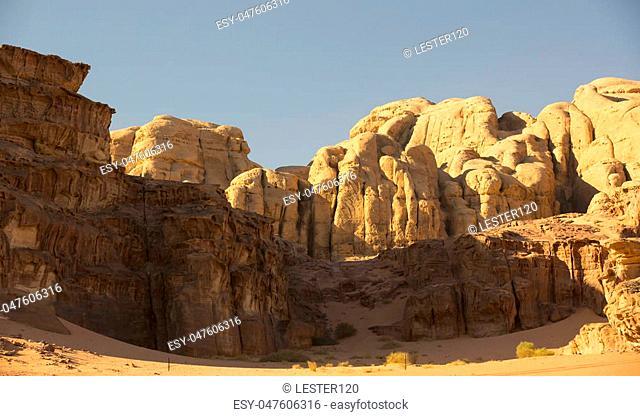 Wadi Rum Desert in Jordan sand stone