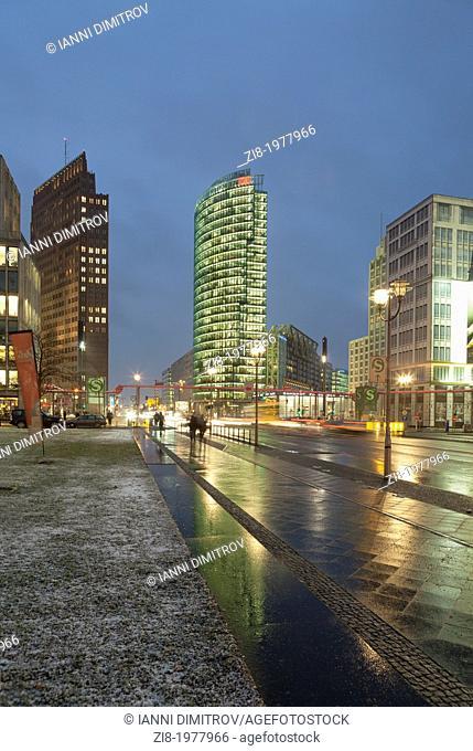 Potsdamer Platz, at night,Berlin,Germany