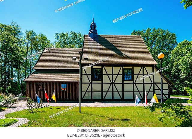Church of St. Andrew the Apostle. Village Golina in Jarocin County, Greater Poland Voivodeship