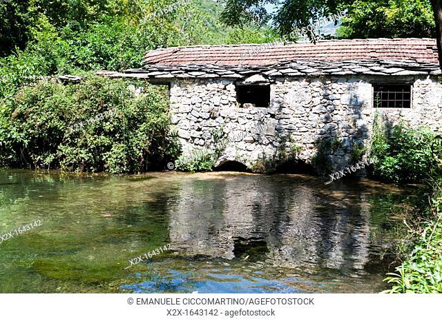 Old watermills on Bregava river, Stolac, Bosnia and Herzegovina, Europe