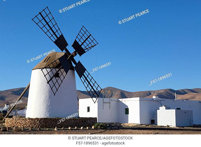 Traditional windmill in Fuerteventura, Spain