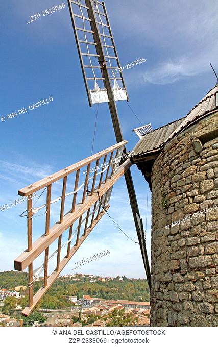 Old windmill at Lautrec village, France