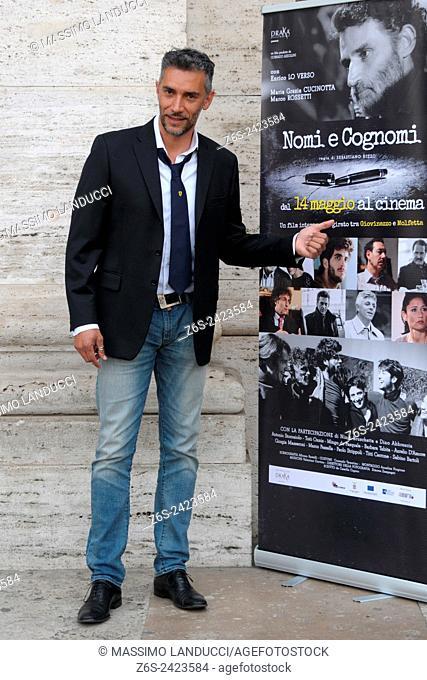 Sebastiano Rizzo; rizzo; director; celebrities; 2015; rome; italy; event; photocall; nomi e cognomi