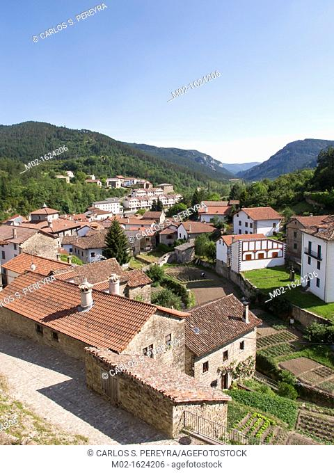 Roncal Village at Roncal Valley in Pyrenees Mountains, Navarre, Spain