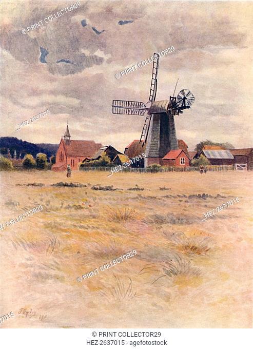 'Cranleigh Windmill', 1911, (1914). Artist: James S Ogilvy