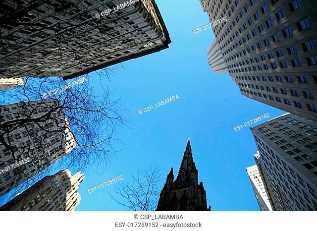 classical New York - skyscrapers in Manhattan
