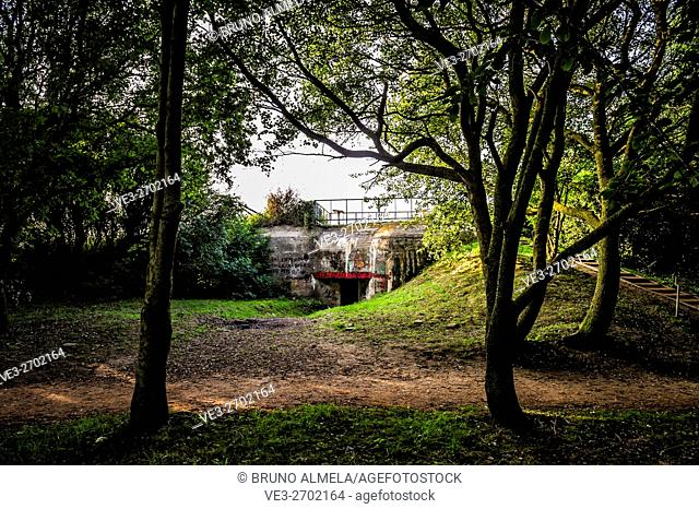 Atlantic Wall bunker near Veules-les-Roses (department of Seine-Maritime, region of Normandie, France)