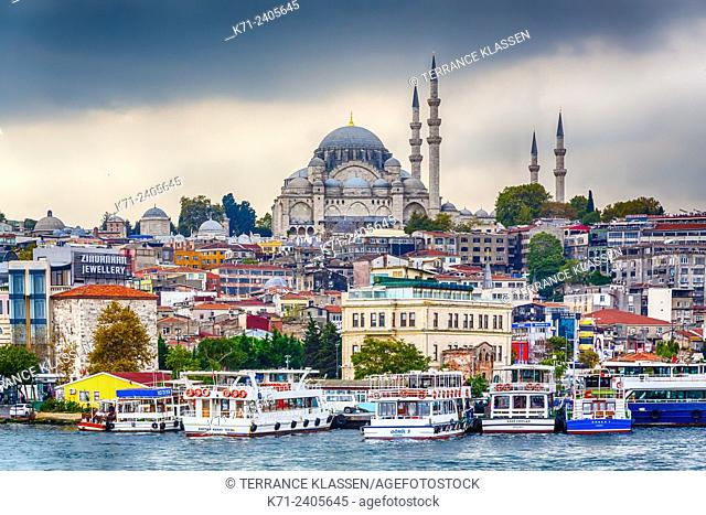 The Süleymaniye Mosque in Istanbul, Turkey, Eurasia