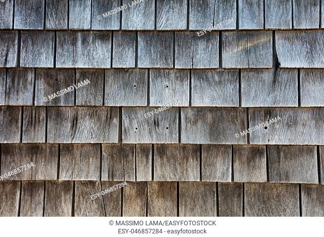 Wood wall, a texture detail in exterior building