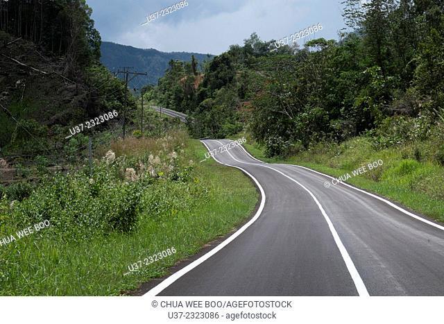 A road to Kampung Krokong, Sarawak, Malaysia