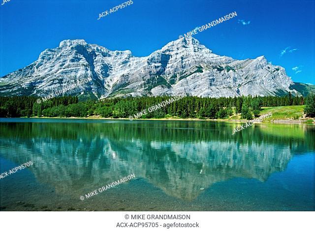 Wedge Pond reflection. Kananaskis Country Kananaskis Country Alberta Canada