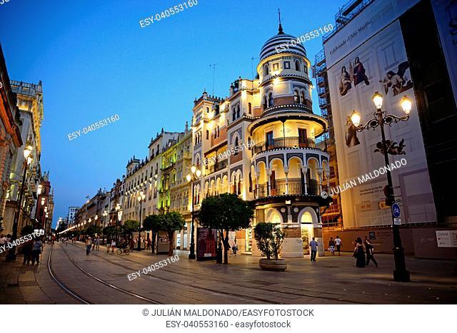 Avenida de la Constitución Street in Seville