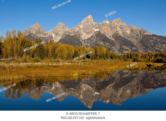 Schwabacher Landing Grand Teton national park Wyoming USA