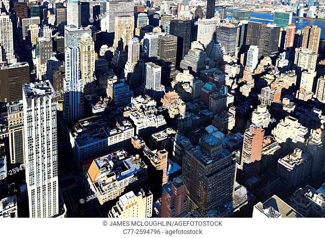 New York City, Manhattan, Skyline, Skyscrapers