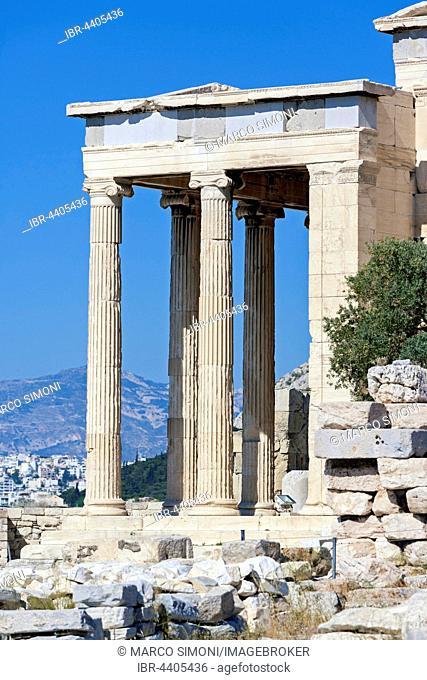 The Erechtheum, Erechtheion Temple, ionic temple of Athena, Acropolis, Athens, Greece