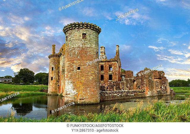 Exterior of Caerlaverock Castle, Dumfries Galloway, Scotland