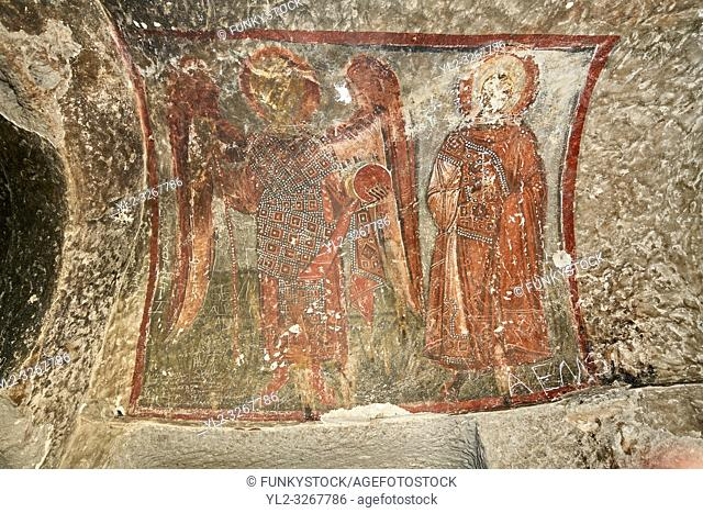"""Pictures & images of Koc Church frescoes, 10th century, the Vadisi Monastery Valley, """"""""Manast?r Vadisi"""", of the Ihlara Valley, Guzelyurt , Aksaray Province"""